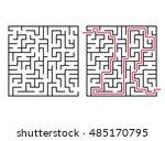 vector labyrinth. maze  ... | Shutterstock .eps vector #485170795