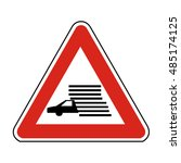 slovakia caution fog likely sign | Shutterstock .eps vector #485174125