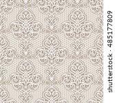 vintage lace ornament  elegant... | Shutterstock .eps vector #485177809