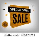 sale banner with textured on a...   Shutterstock .eps vector #485178211