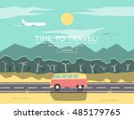road trip. time to travel... | Shutterstock .eps vector #485179765