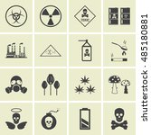 vector hazard and danger icons... | Shutterstock .eps vector #485180881
