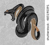 Viper Snake Vector Illustratio...