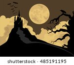 halloween holiday graphic... | Shutterstock .eps vector #485191195