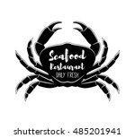 seafood labels  fish packaging... | Shutterstock .eps vector #485201941