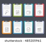 set of infographic elements... | Shutterstock .eps vector #485205961