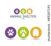 vector illustration. paw... | Shutterstock .eps vector #485207191