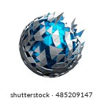 abstract 3d rendering of low... | Shutterstock . vector #485209147