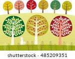 such an unusual garden | Shutterstock .eps vector #485209351