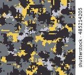 digital pixel camouflage... | Shutterstock .eps vector #485214205