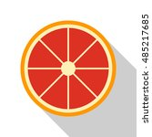 grapefruit icon or button in... | Shutterstock .eps vector #485217685