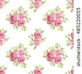cute seamless shabby chic... | Shutterstock .eps vector #485220055