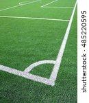 green grass conner of football... | Shutterstock . vector #485220595