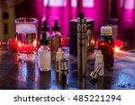 refill vaporizer with e juice... | Shutterstock . vector #485221294