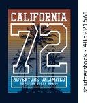 california college typography... | Shutterstock .eps vector #485221561