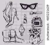 fashion accessories. sketch of