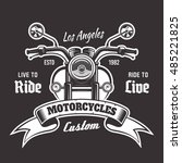 motorcycle front view vector... | Shutterstock .eps vector #485221825