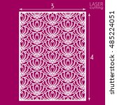 die cut ornamental panel with... | Shutterstock .eps vector #485224051