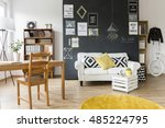 modern designed room with a... | Shutterstock . vector #485224795