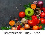 various fresh vegetables from... | Shutterstock . vector #485227765