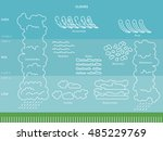 diagram of cloud types and... | Shutterstock .eps vector #485229769