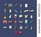 medical icons | Shutterstock .eps vector #485232115