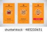 modern vector flat line mobile...   Shutterstock .eps vector #485233651