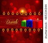 happy diwali illustration ... | Shutterstock .eps vector #485234344