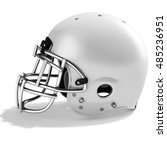 3d white american football... | Shutterstock . vector #485236951
