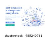 vector illustration of a modern ... | Shutterstock .eps vector #485240761