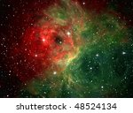 colorful space nebula  ... | Shutterstock . vector #48524134