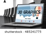 3d graphics on landing page of... | Shutterstock . vector #485241775