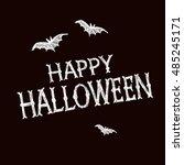 halloween party poster....   Shutterstock .eps vector #485245171