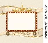 shining cinema banner. retro... | Shutterstock .eps vector #485250859