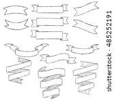set of hand drawn vector... | Shutterstock .eps vector #485252191