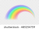 transparent rainbow. vector... | Shutterstock .eps vector #485254759