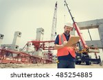 architecture construction... | Shutterstock . vector #485254885