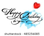 happy birthday to you with... | Shutterstock .eps vector #485256085
