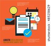global logistic network vector... | Shutterstock .eps vector #485258629