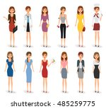 people characters in job and... | Shutterstock .eps vector #485259775