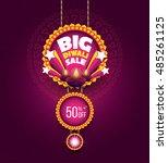 big diwali sale banner design... | Shutterstock .eps vector #485261125