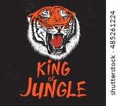 Color Label With Tiger Head....