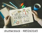 Small photo of GUIDANCE sketch on notebook