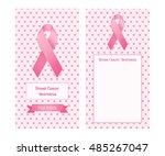 vertical banner for breast... | Shutterstock .eps vector #485267047