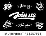 "set of ""join us"" handmade... 