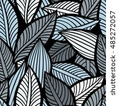 vector pattern with leaves.... | Shutterstock .eps vector #485272057