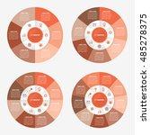 infographic template pie orange