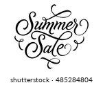 summer sale lettering | Shutterstock .eps vector #485284804