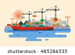 stock vector flat style... | Shutterstock .eps vector #485286535