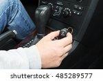 car cigarette lighter in car ...   Shutterstock . vector #485289577